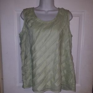Talbots Sleeveless Mint Green Lined Pullover Top